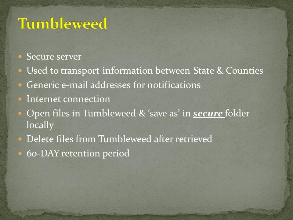 Tumbleweed Secure server