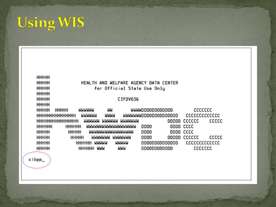 Using WIS