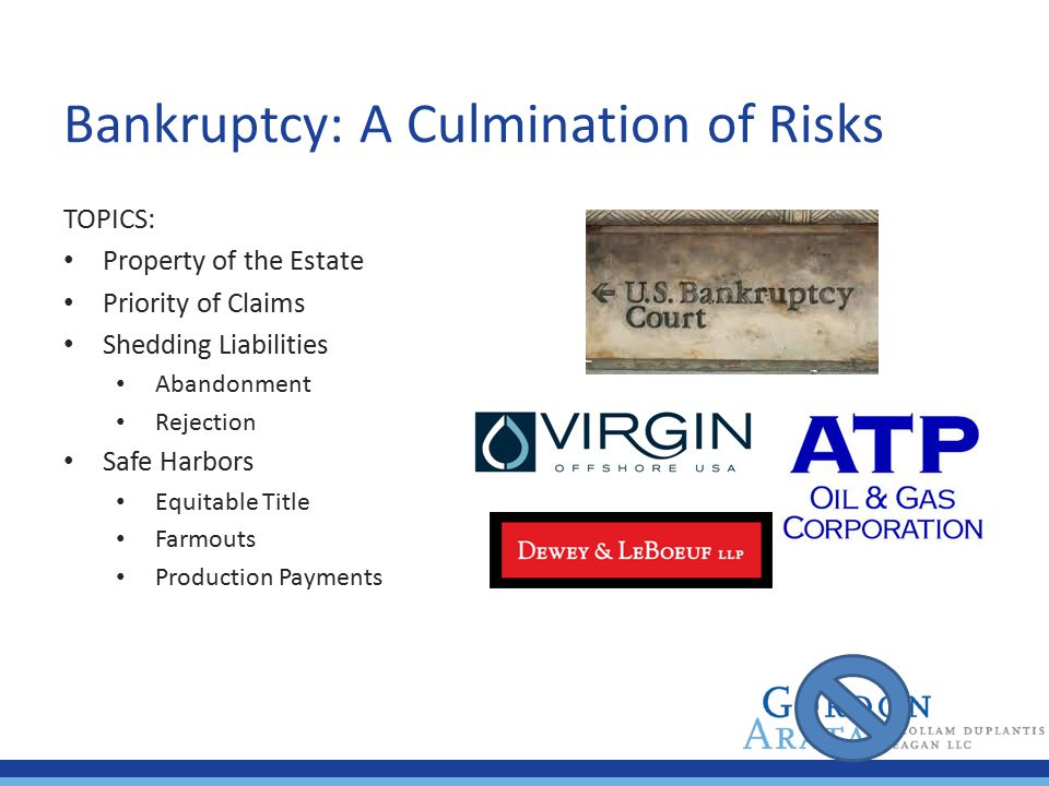 Bankruptcy: A Culmination of Risks