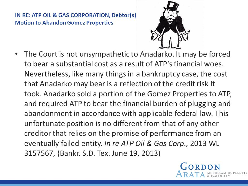 IN RE: ATP OIL & GAS CORPORATION, Debtor(s)
