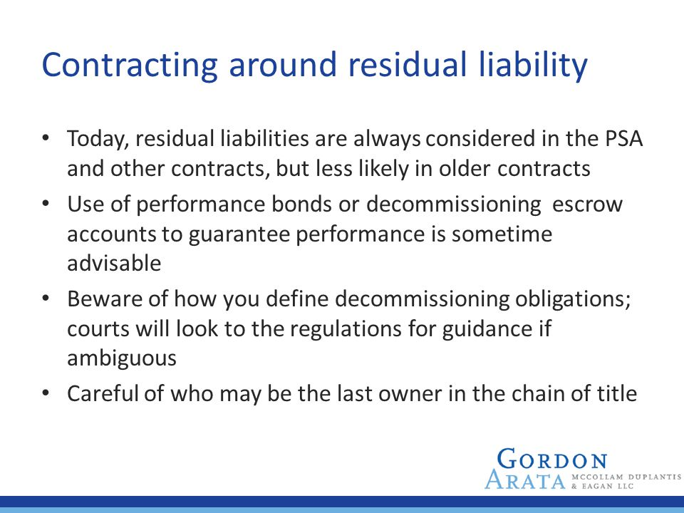 Contracting around residual liability