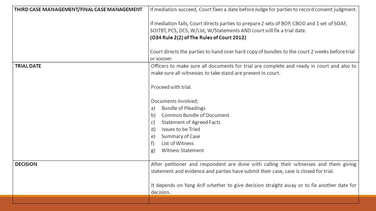 THIRD CASE MANAGEMENT/FINAL CASE MANAGEMENT