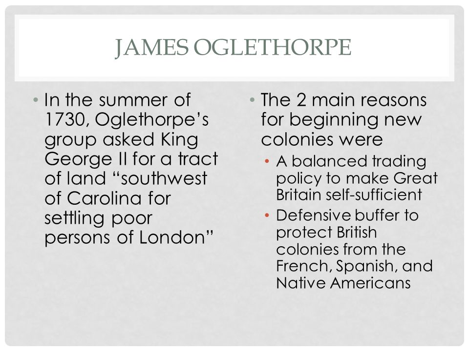 James Oglethorpe
