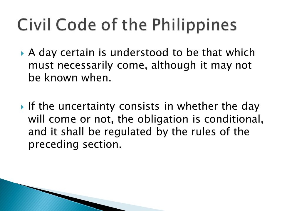Civil Code of the Philippines