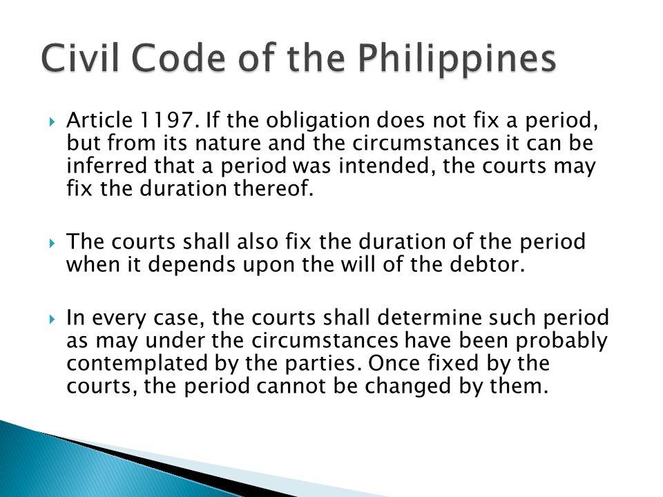 philippine civil code obligations general