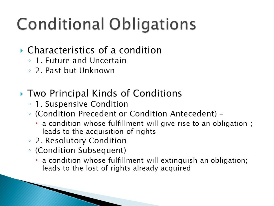 Conditional Obligations