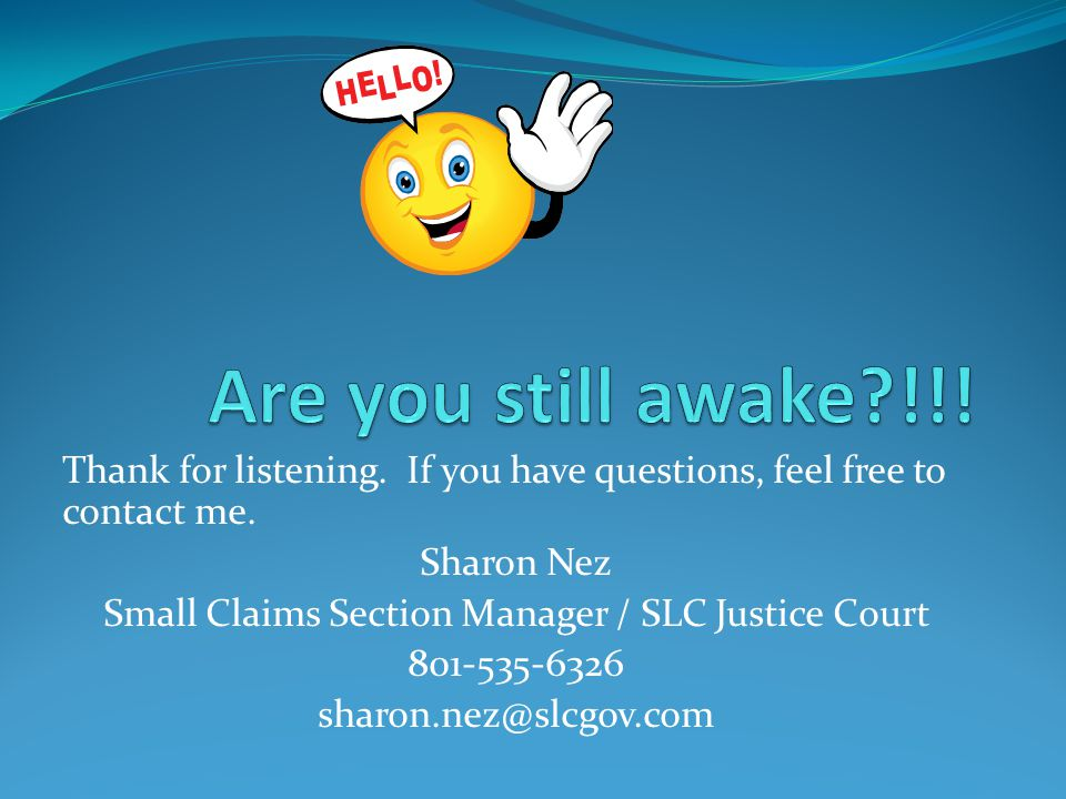 Small Claims Section Manager / SLC Justice Court