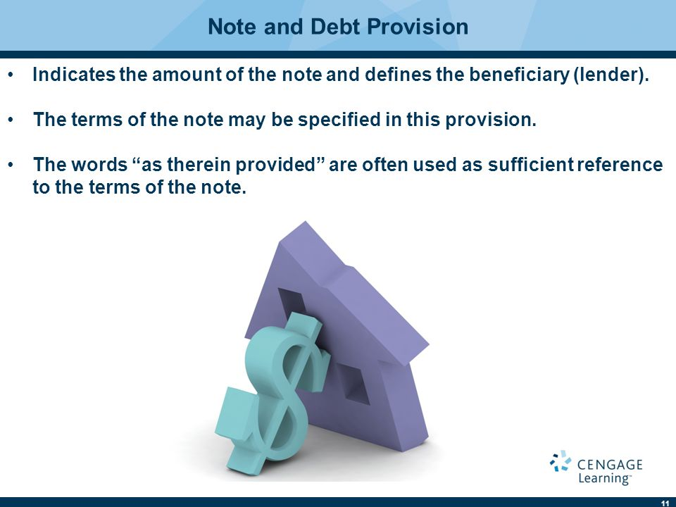 Note and Debt Provision