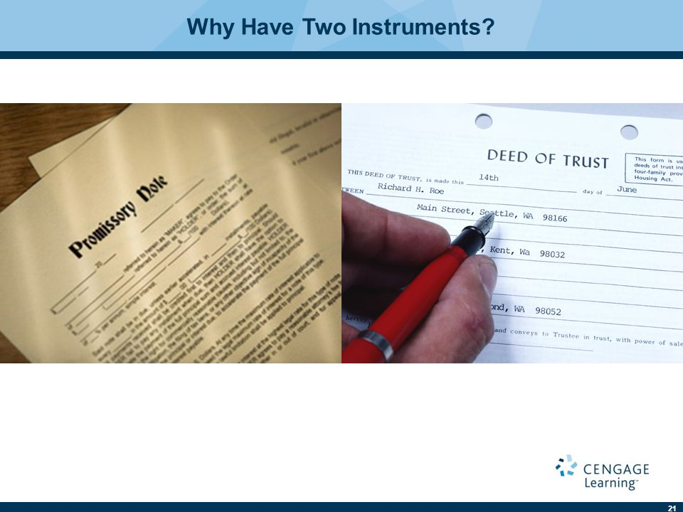 Why Have Two Instruments