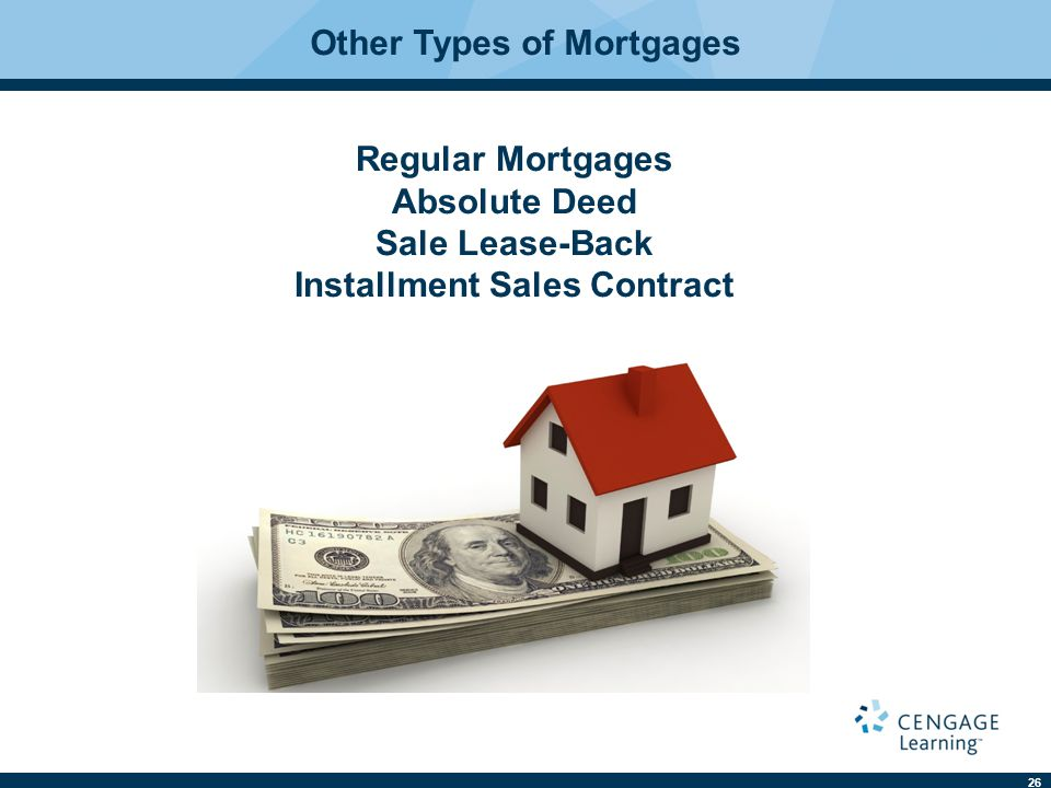 Other Types of Mortgages Installment Sales Contract