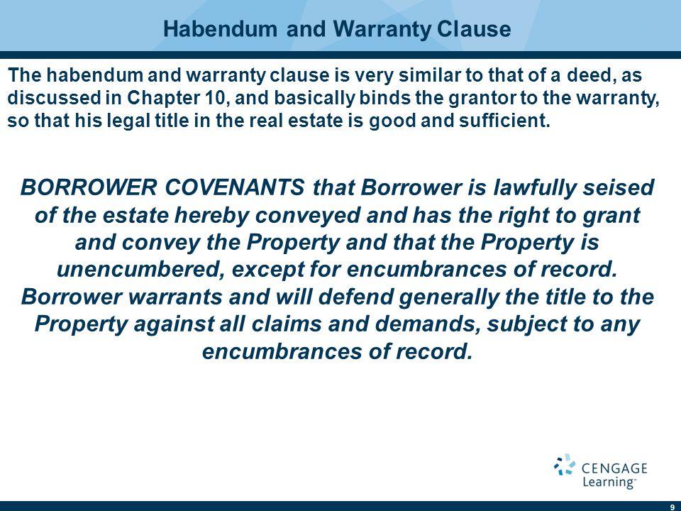 Habendum and Warranty Clause