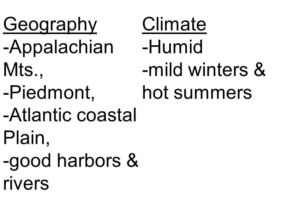 Geography -Appalachian Mts