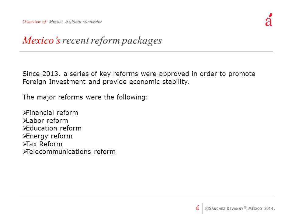 Mexico's recent reform packages