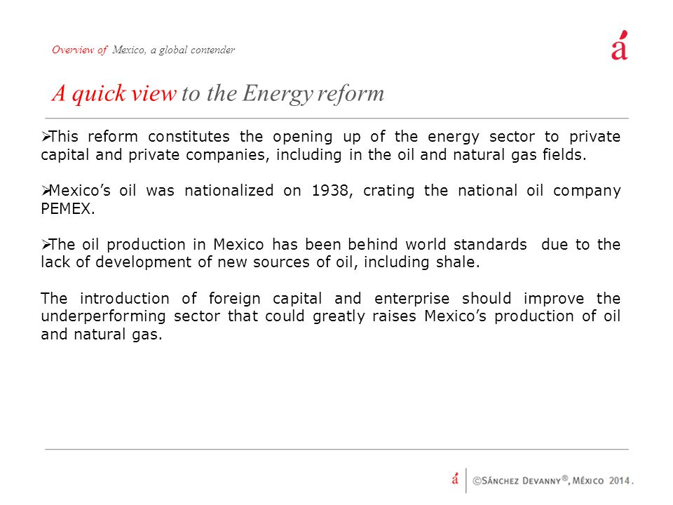 A quick view to the Energy reform
