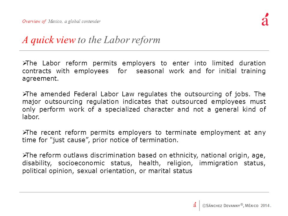 A quick view to the Labor reform