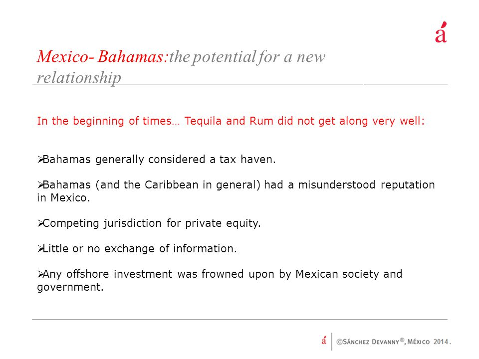 Mexico- Bahamas:the potential for a new relationship