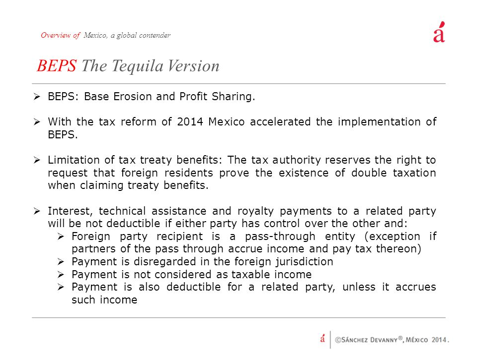 BEPS The Tequila Version
