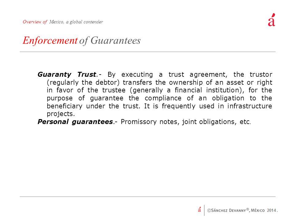 Enforcement of Guarantees