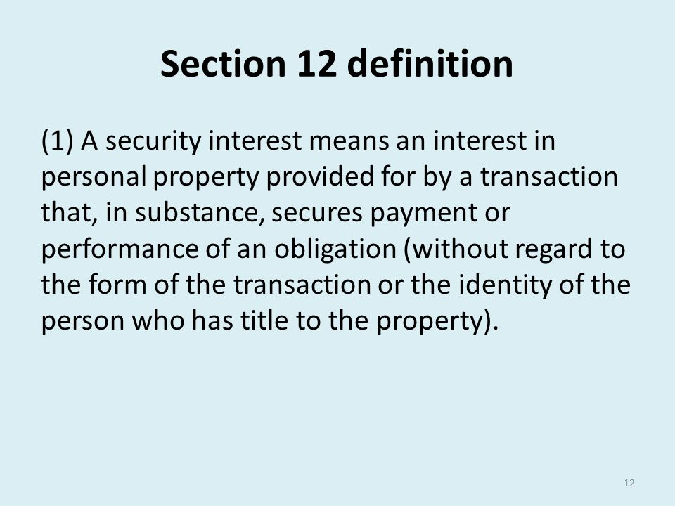 Section 12 definition