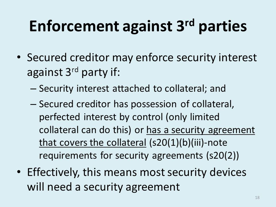 Enforcement against 3rd parties