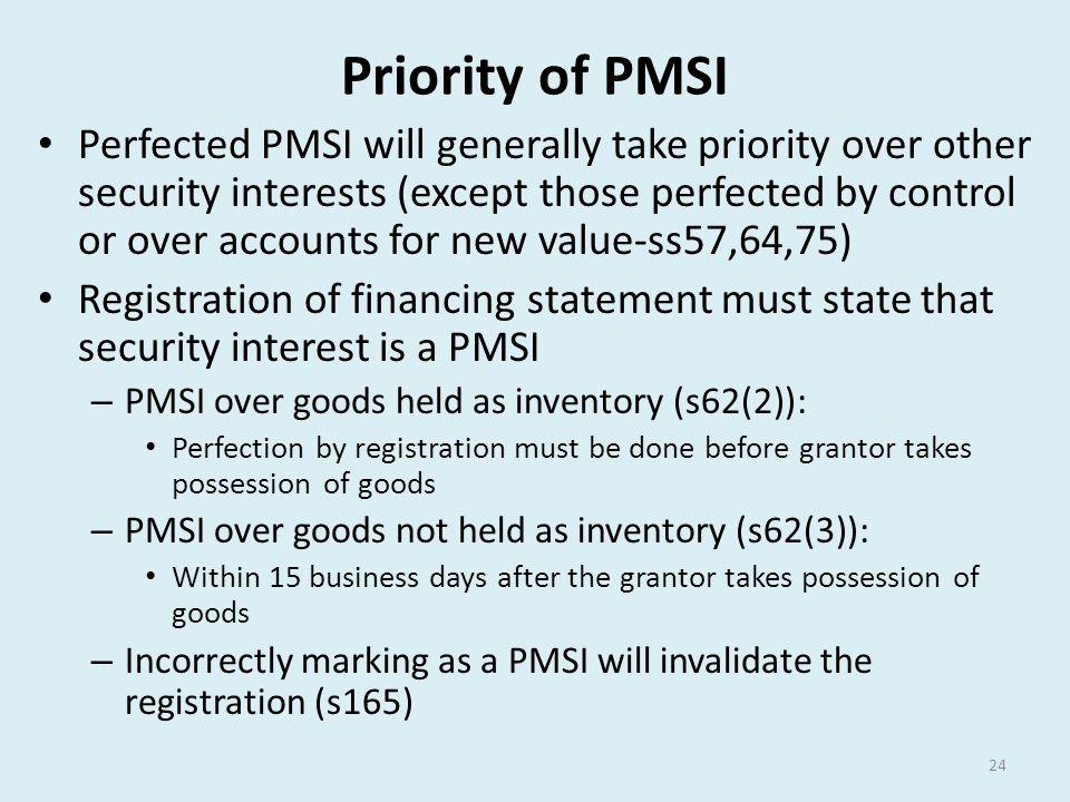 Priority of PMSI