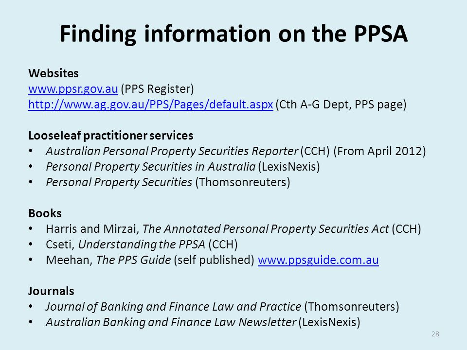 Finding information on the PPSA