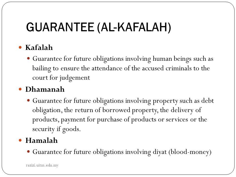 GUARANTEE (AL-KAFALAH)