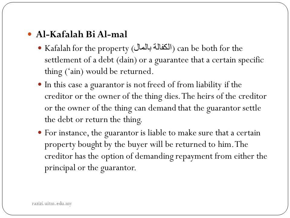 Al-Kafalah Bi Al-mal