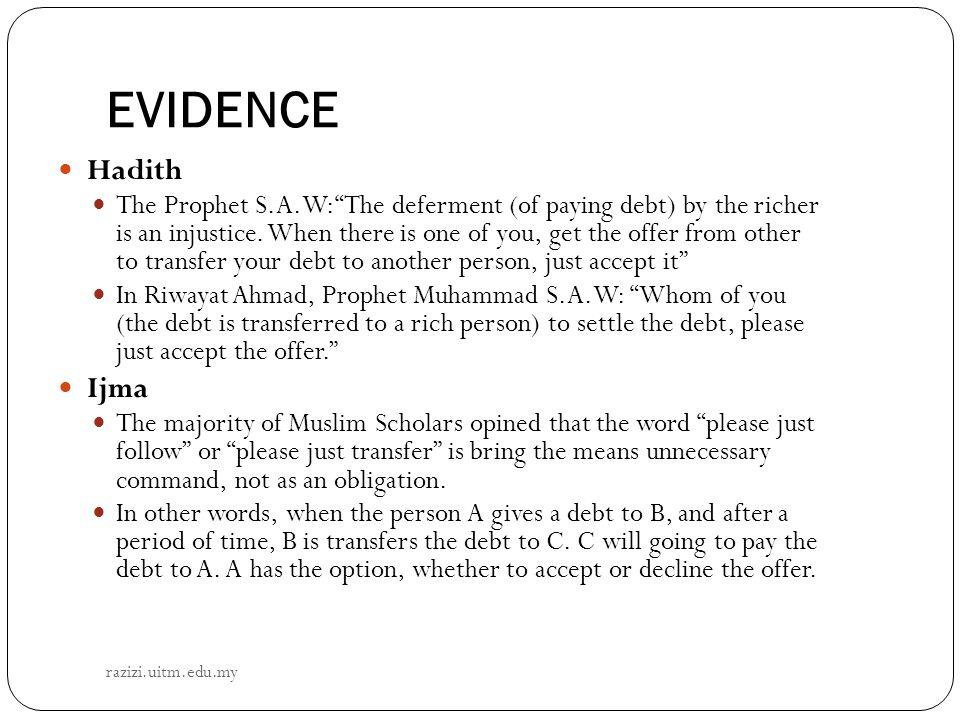 EVIDENCE Hadith.