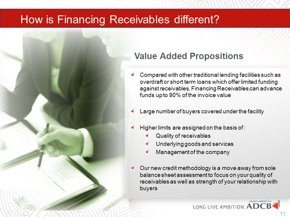 How is Financing Receivables different