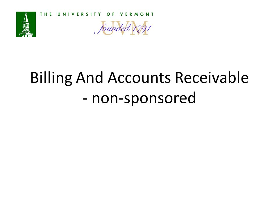 Billing And Accounts Receivable - non-sponsored