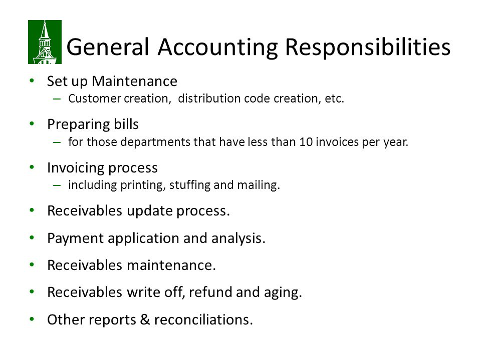 General Accounting Responsibilities