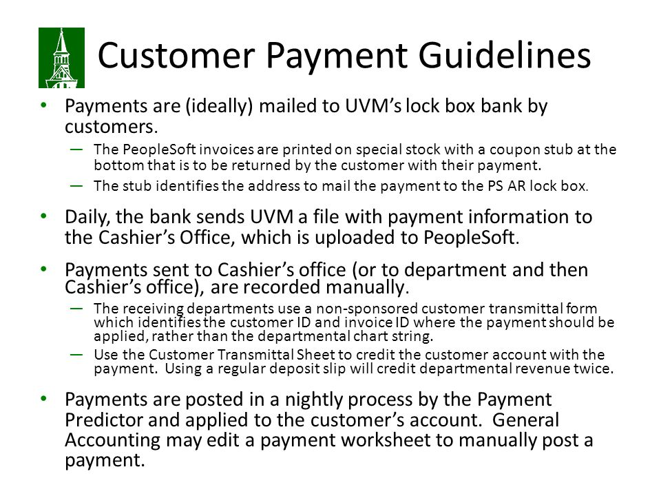 Customer Payment Guidelines