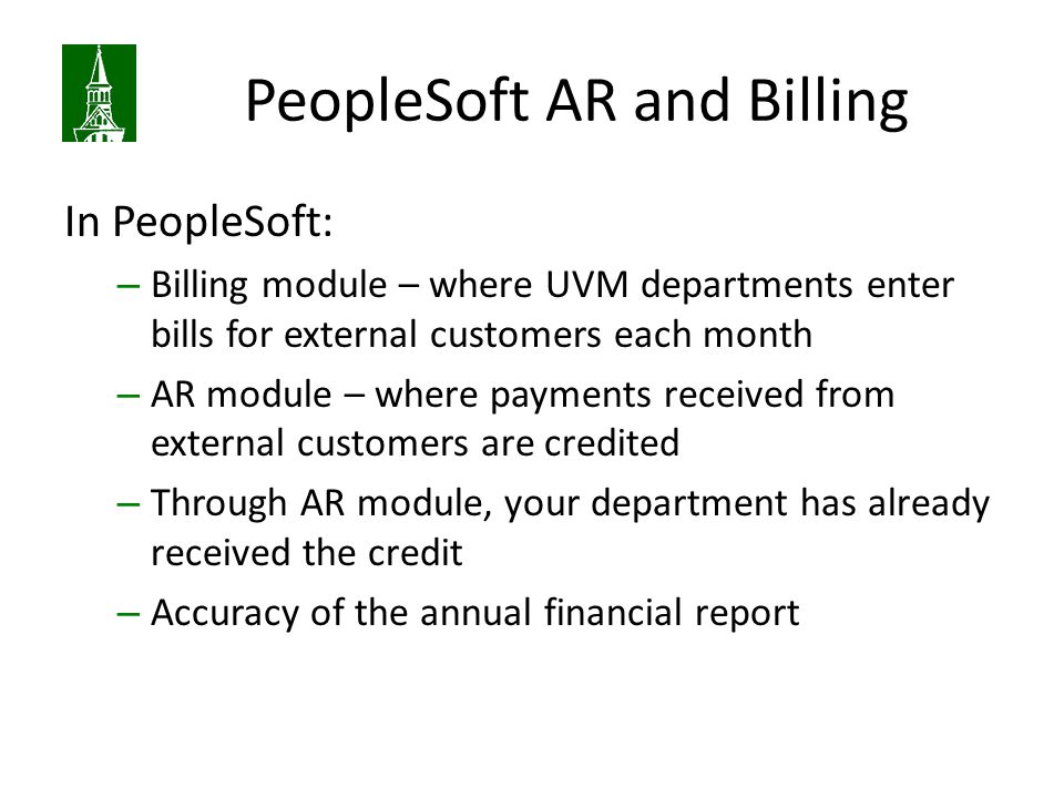PeopleSoft AR and Billing