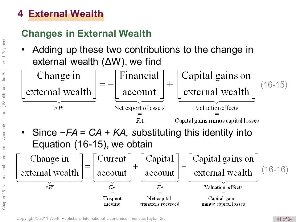 Changes in External Wealth