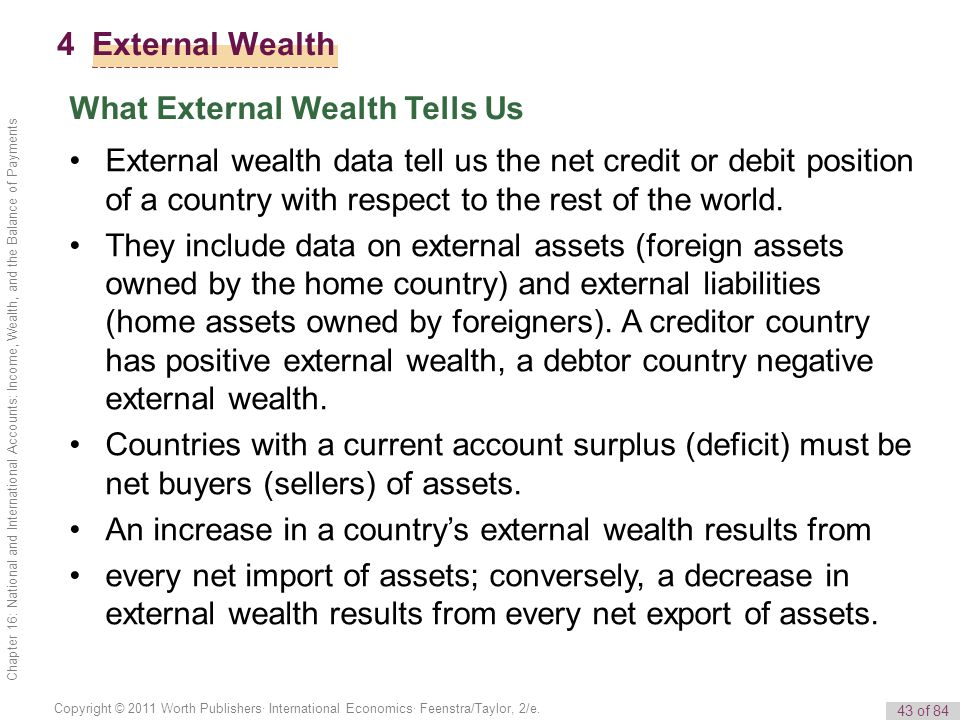 What External Wealth Tells Us