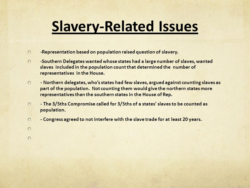 Slavery-Related Issues
