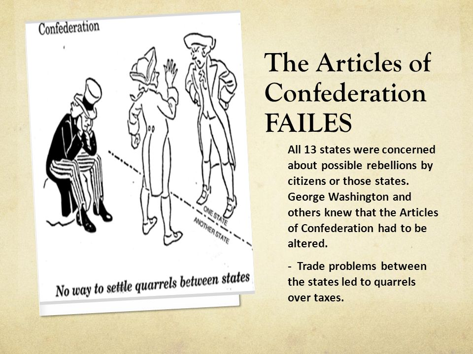 The Articles of Confederation FAILES