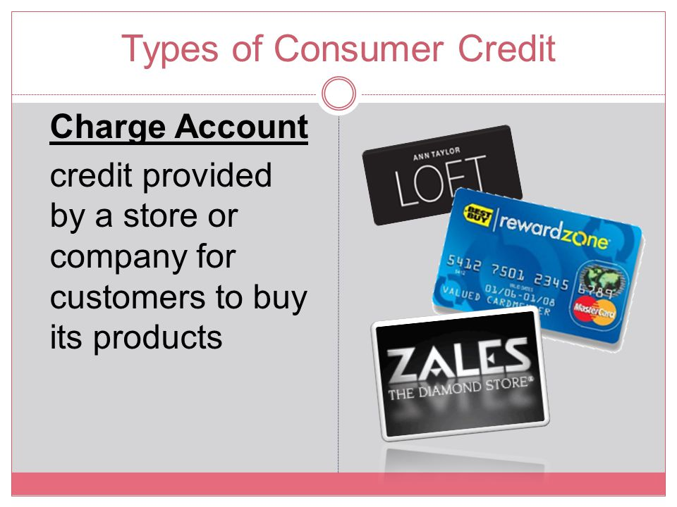 Types of Consumer Credit
