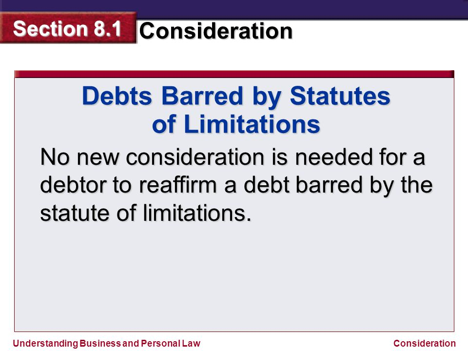 Debts Barred by Statutes