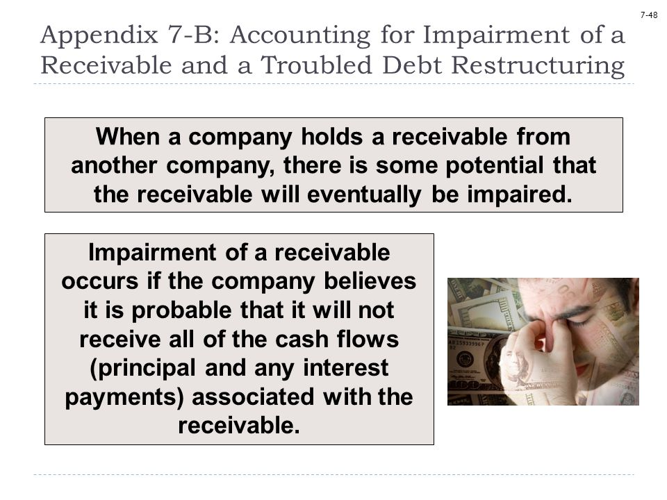Appendix 7-B: Accounting for Impairment of a Receivable and a Troubled Debt Restructuring