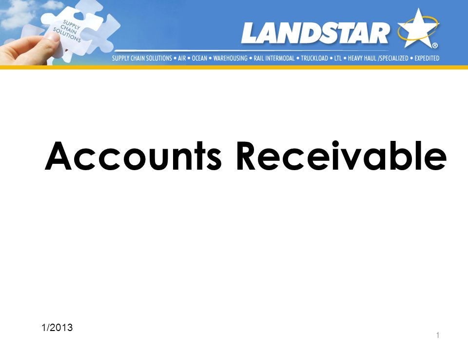 Accounts Receivable 1/2013