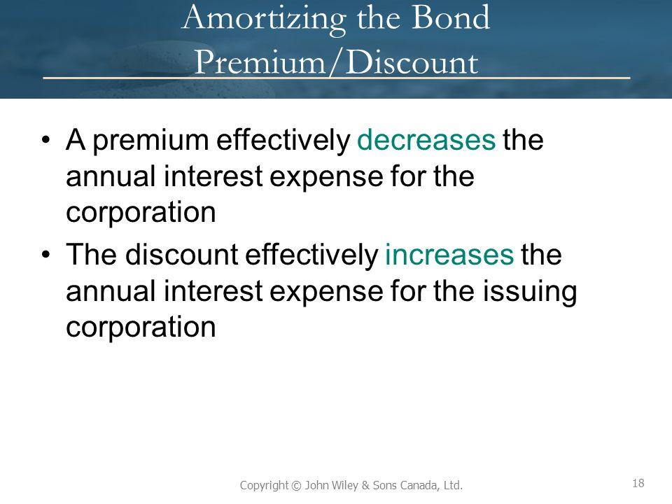 Amortizing the Bond Premium/Discount