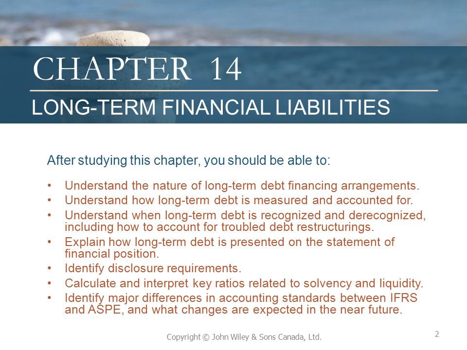 14 LONG-TERM FINANCIAL LIABILITIES