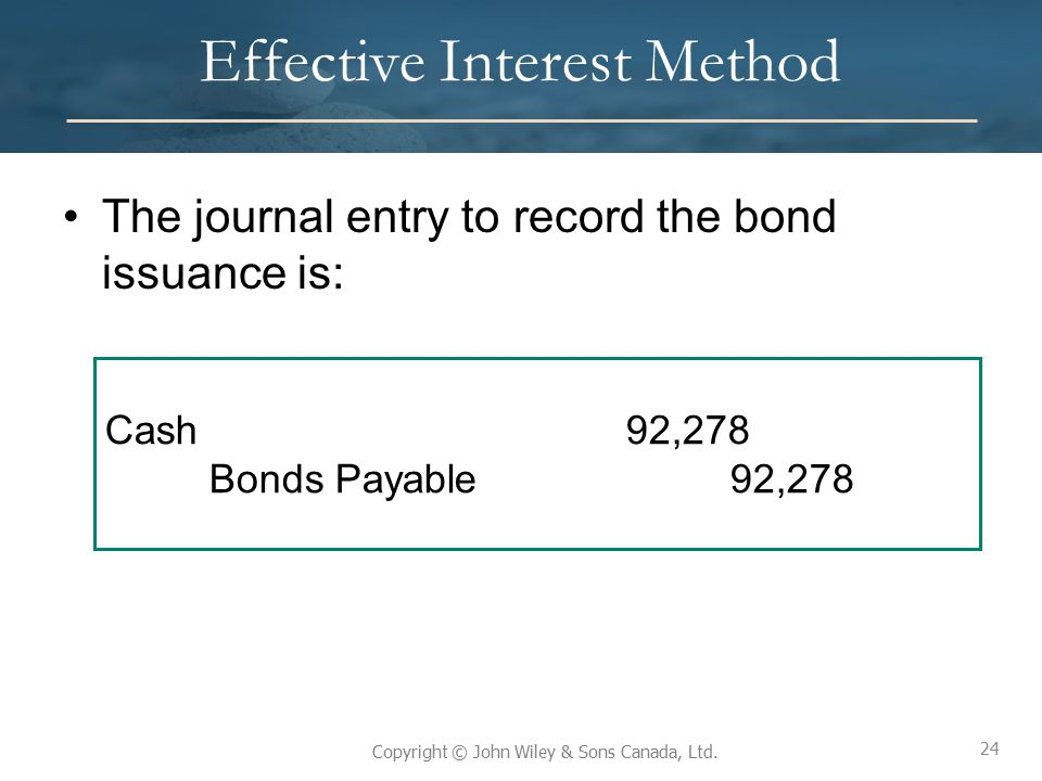 Effective Interest Method