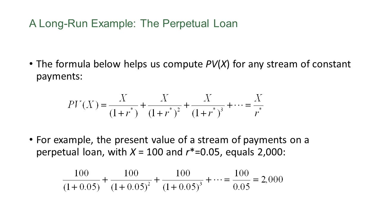 A Long-Run Example: The Perpetual Loan