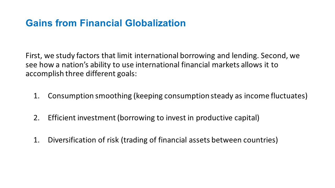 Gains from Financial Globalization