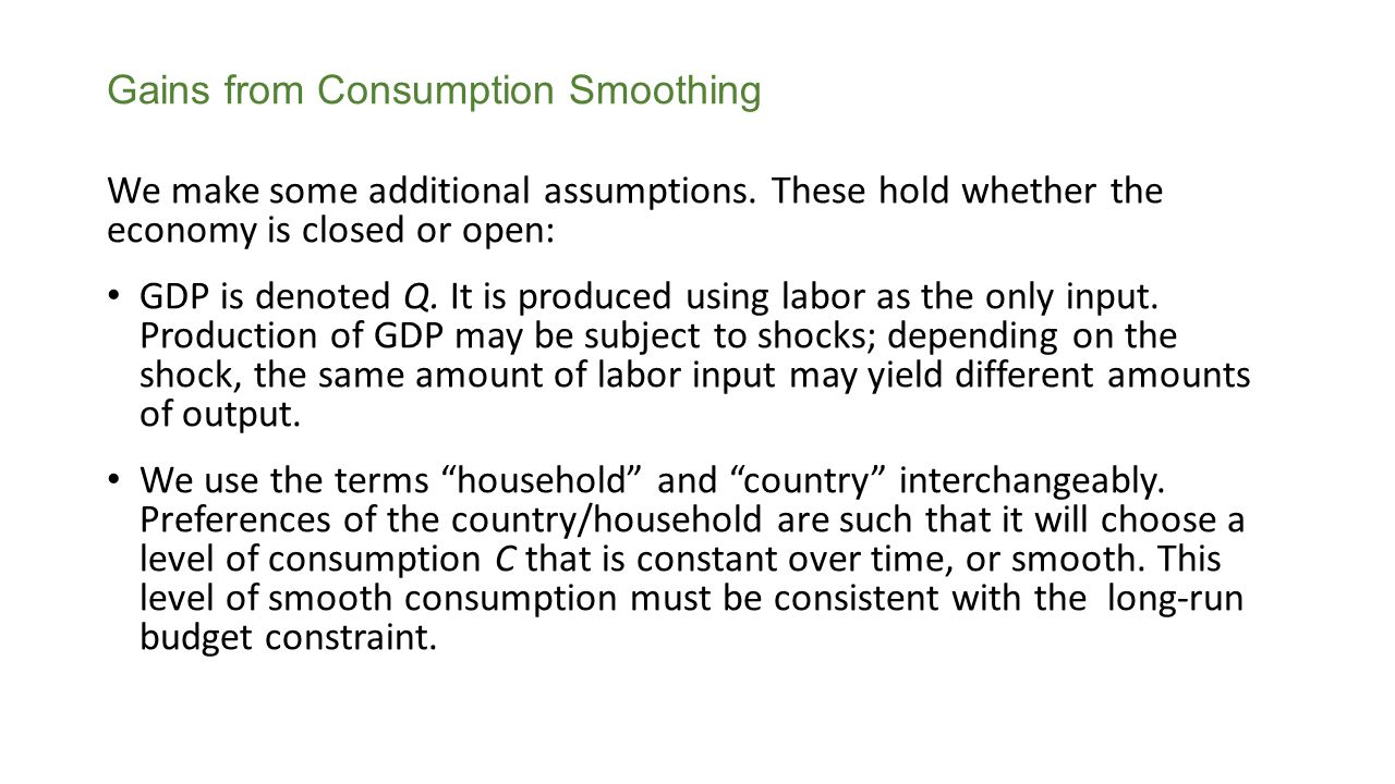 Gains from Consumption Smoothing