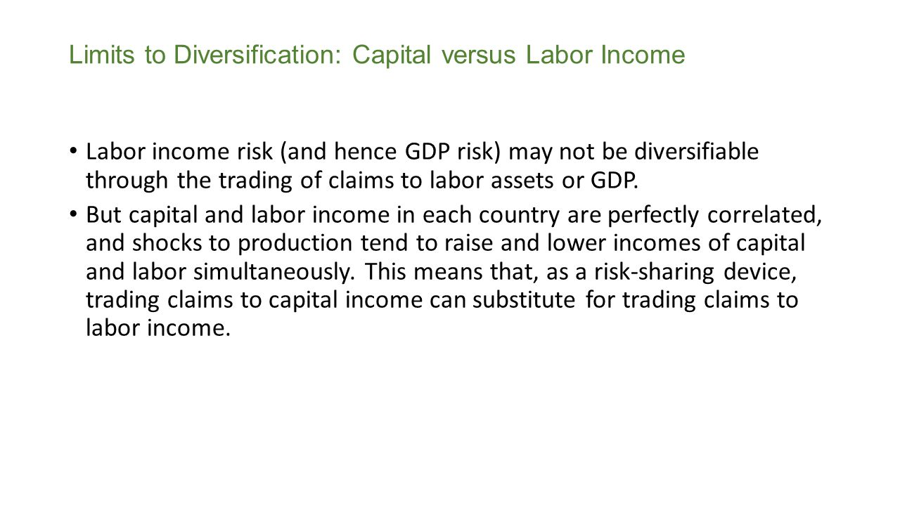 Limits to Diversification: Capital versus Labor Income