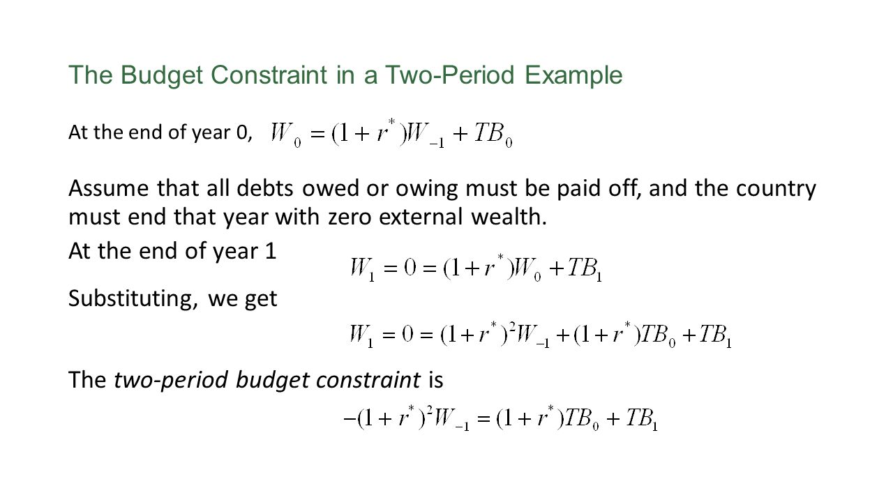The Budget Constraint in a Two-Period Example